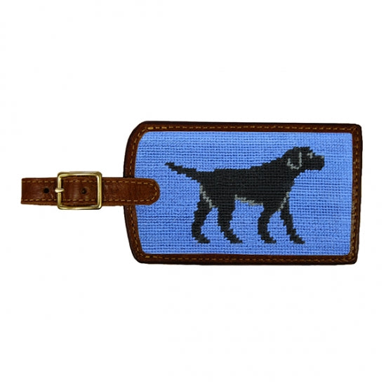 Smathers & Branson Black Labrador Needlepoint Luggage Tag