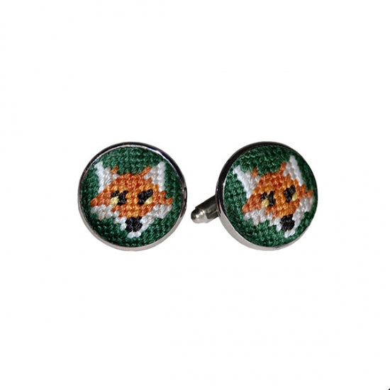 Smathers & Branson Fox Needlepoint Cufflinks