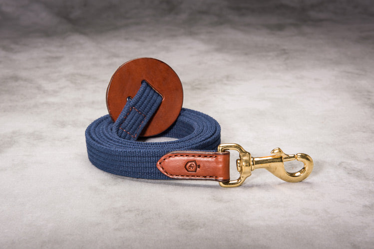 Glaze & Gordon Leather and Cotton Web Lead Rope