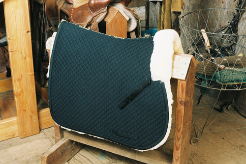 "Engel Sheepskin GP Saddle Pad _""_ Full Lining & Pommel Roll"