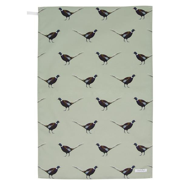 Christie Lloyd Ernie Pheasant Tea Towel