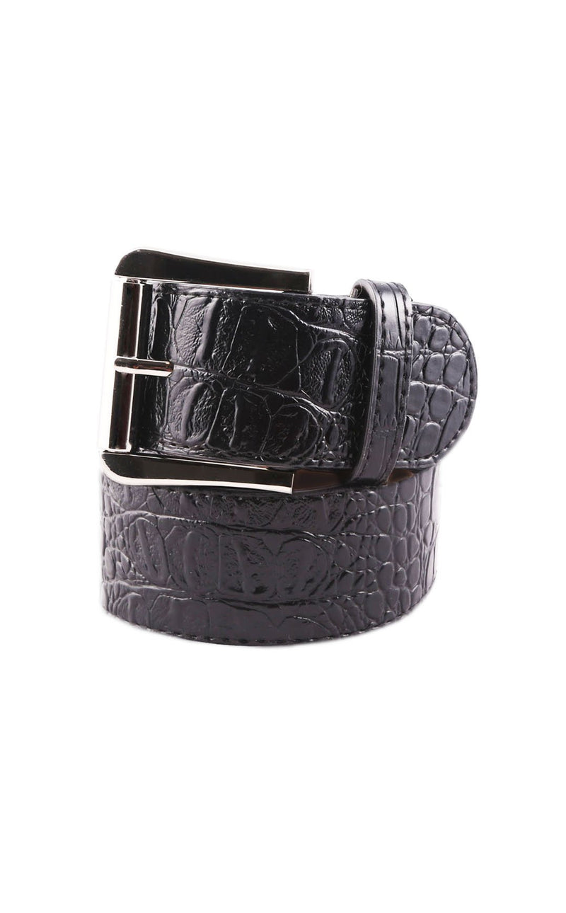 GhoDho Faux Crocodile Skin Belt