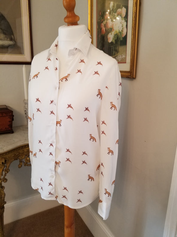 Hartwell Lydia Ladies Fox & Pheasant Print Shirt