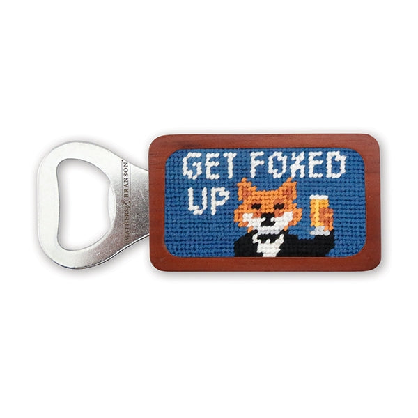 Smathers & Branson Get Foxed Up Needlepoint Bottle Opener
