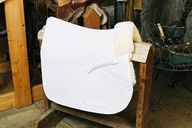 Engel Sheepskin GP Saddle Pad – Partial Lining & Pommel Roll