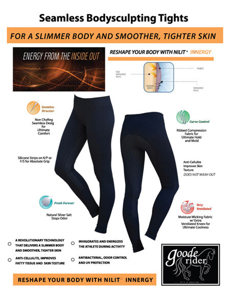 Goode Rider Body Sculpting Seamless Tights Full Seat