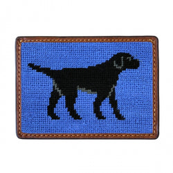 Smathers & Branson Black Labrador Needlepoint Card Wallet