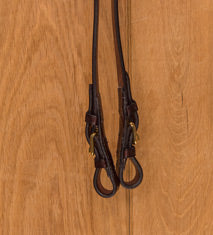Glaze & Gordon Half Rubber Reins With Buckle Ends