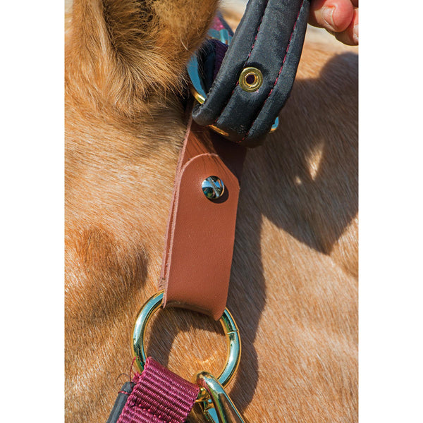 Schneiders Dura-tech® Fully Padded Nylon Breakaway Headcollar (with small leather connecting tab)