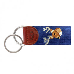 Smathers & Branson Deer Head Needlepoint Key Fob