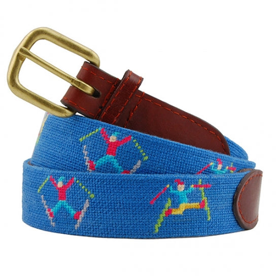 Smathers & Branson Ski Tricks Needlepoint Belt