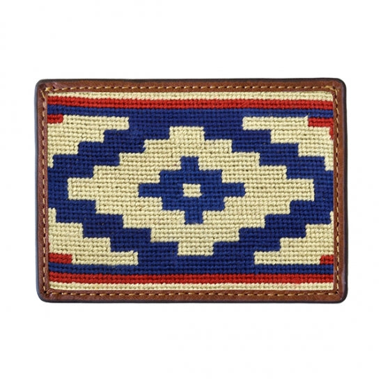 Smathers & Branson Gaucho Rojo Needlepoint Card Wallet