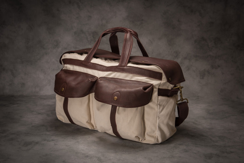 Glaze & Gordon Wooster Canvas & Leather Travel Bag