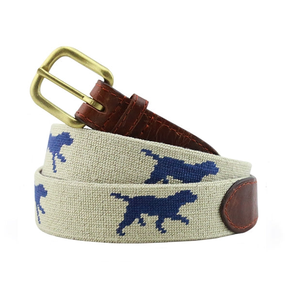 Smathers & Branson Dogs at Play Needlepoint Belt