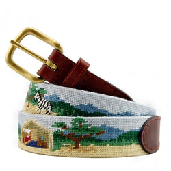 Smathers & Branson Safari Scene Needlepoint Belt