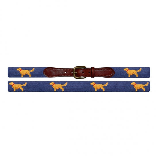 Smathers & Branson Golden Retriever Needlepoint Belt