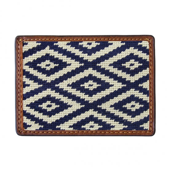 Smathers & Branson Gaucho Needlepoint Card Wallet