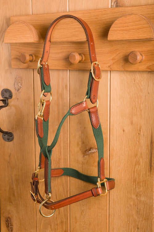 Glaze & Gordon Leather and Cotton Web Head Collar