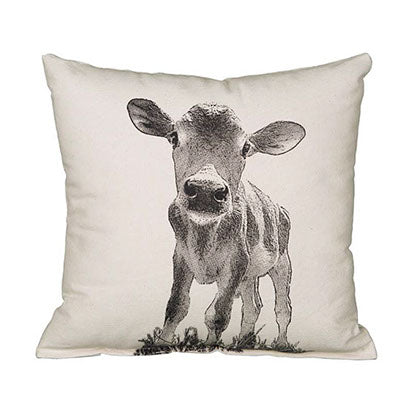 "Eric & Christopher Baby Cow ""Cowboy"" Cushion"