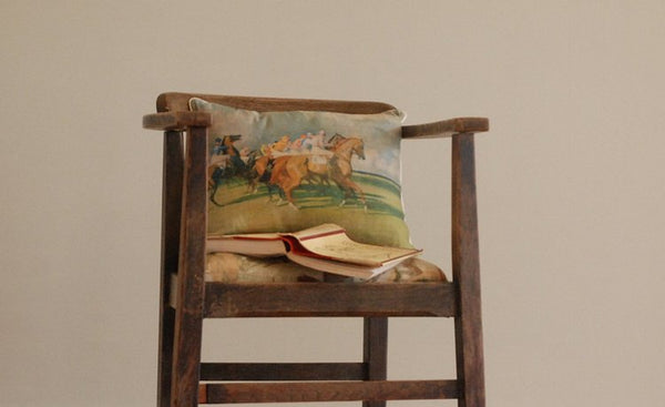 "Munnings ""Under Starters Orders"" Cushion"