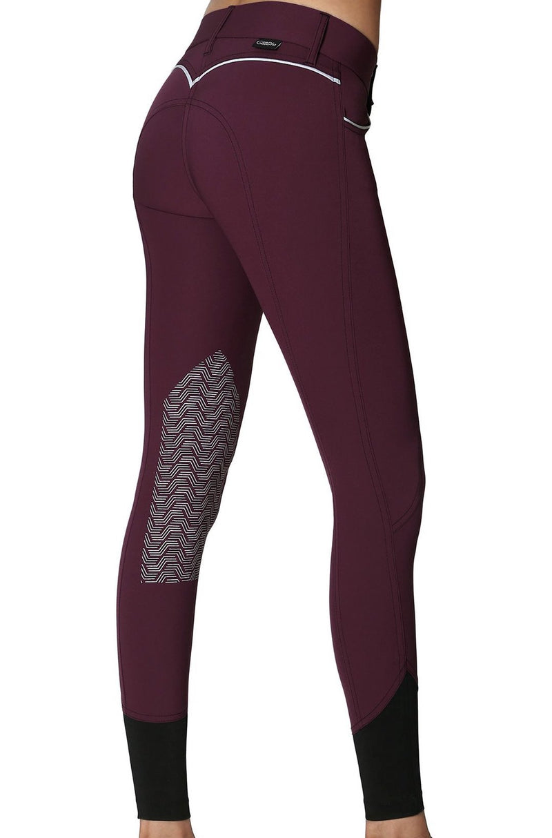 GhoDho Elara Knee Patch Breeches - CONCORD PURPLE