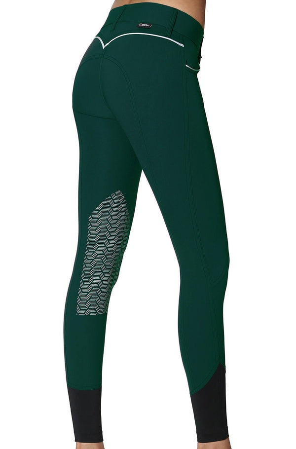 GhoDho Elara Knee Patch Breeches - EMERALD GREEN