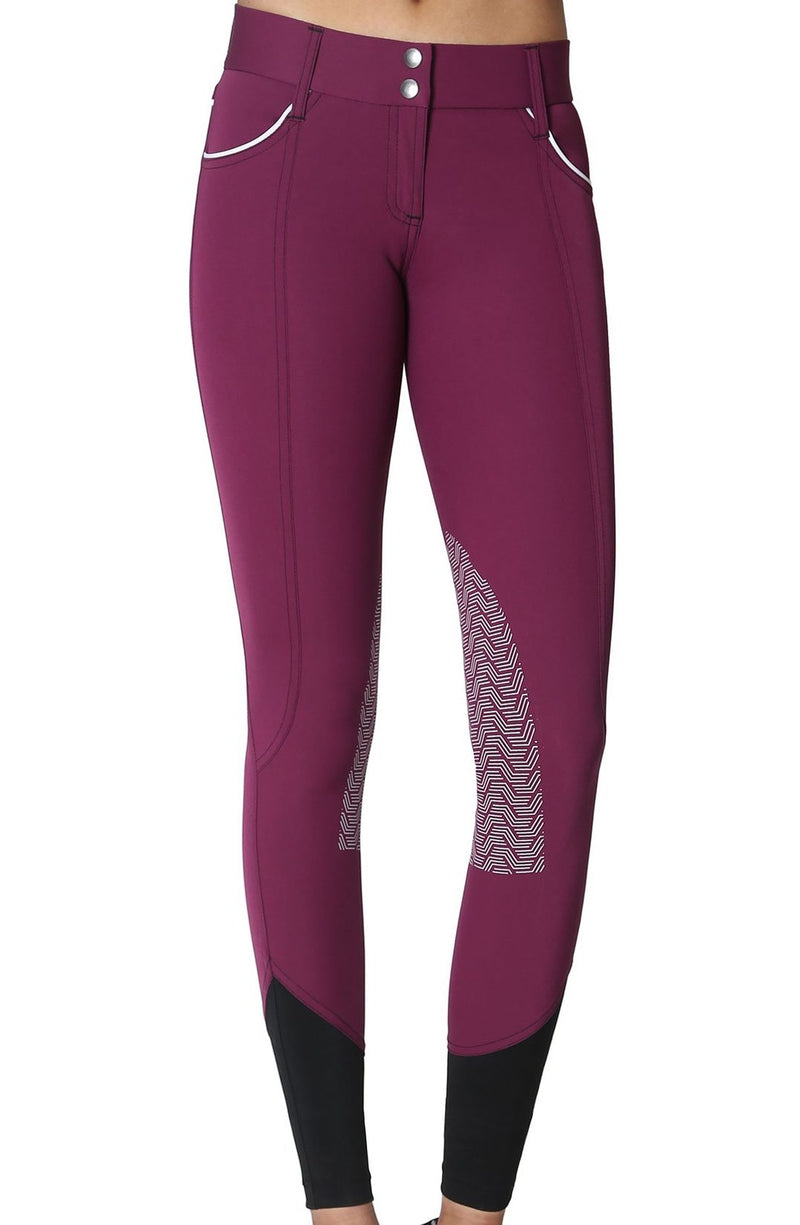 GhoDho Elara Knee Patch Breeches - PLUM