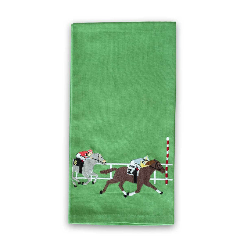 Pomegranate Embroidered Finish Line Tea Towel