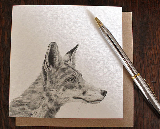 Sophie Botsford Fox Drawing Greetings Card