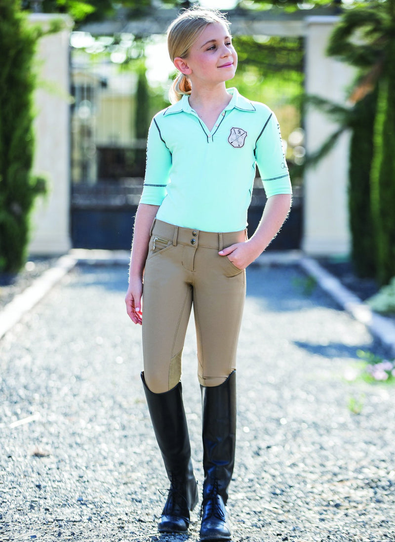 Goode Rider Kids Girls Pro Knee Patch Breeches