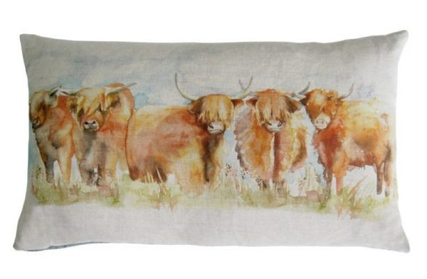 Voyage Cushion - Highland Cow