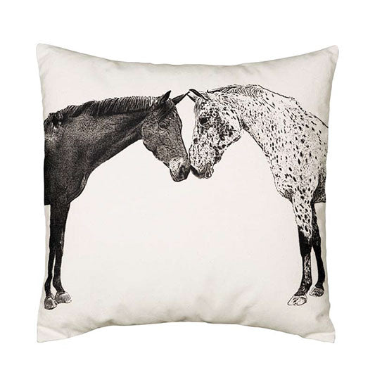 "Eric & Christopher Kissing Horses ""Albert & Dreamer"" Cushion Cover"