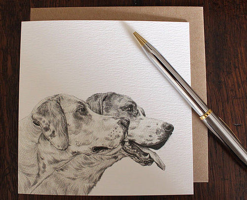 Sophie Botsford Foxhounds Drawing Greetings Card