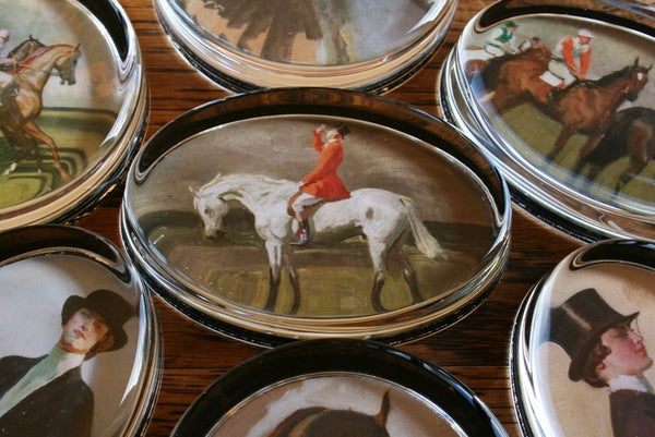 "Munnings ""Huntsman on a Grey"" Paperweight"