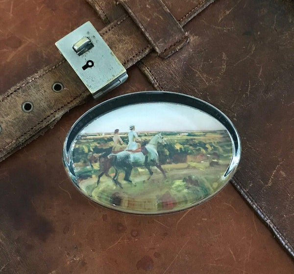"Munnings ""Two Lady Riders Under An Evening Sky"" Paperweight"
