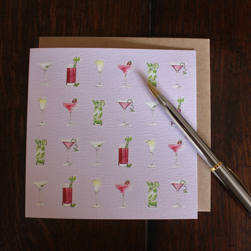Sophie Botsford Cocktails Greetings Card