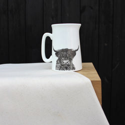 Sophie Botsford Highland Cow Half Pint Jug
