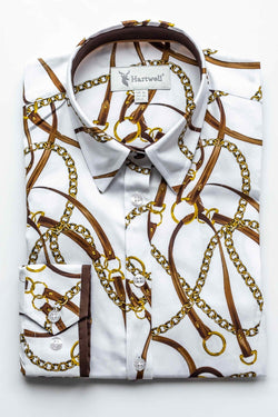 Hartwell Layla Ladies White Chains Shirt