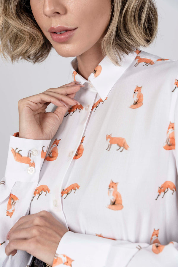 Hartwell Lydia Ladies Foxes Print Shirt