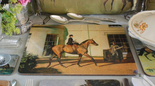 Isabel Scott My Wife, My Horse & Myself Serving Mat