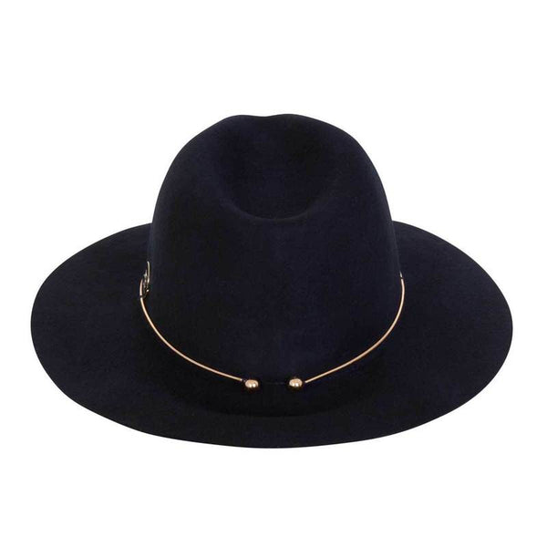 Annabel Brocks Navy Wool Bugsy Hat