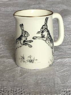 Muffet Monro Boxing Hares Mini Jug - Black & Gold