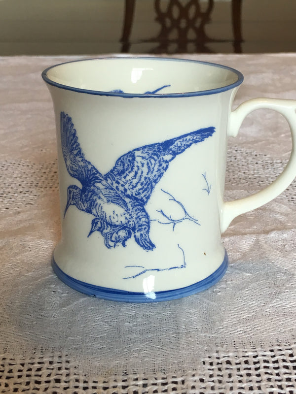 Muffet Monro Woodcock Mug - Blue & White