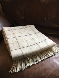 Glaze &  Gordon Merino Wool Check Throw
