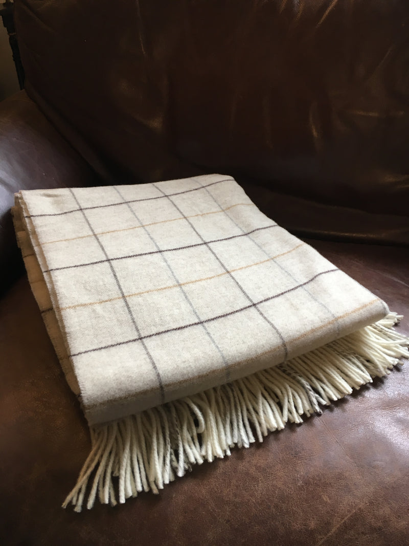 "Glaze & Gordon Merino Wool ""Arthur"" Throw"