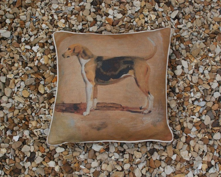 "Munnings ""Study of  Pytchley Foxhound"" Square Cushion"