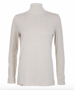 Ginger & Jardine Tattersall Silky Roll Neck - Ladies
