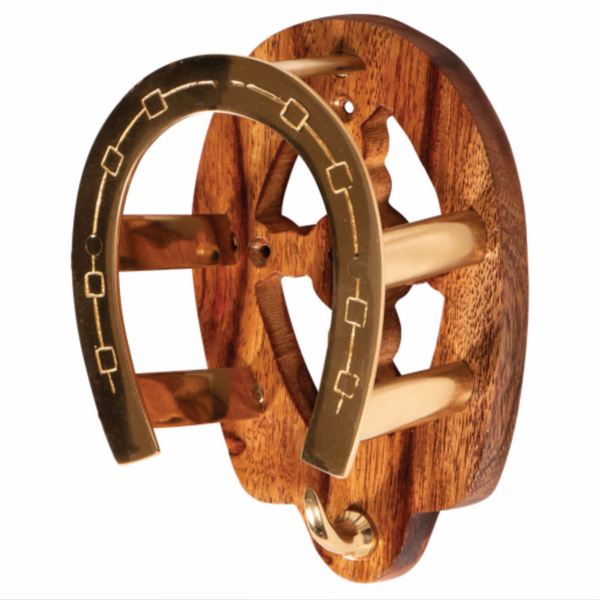 Berlin Brass & Wood Fancy Horseshoe Bridle Hanger