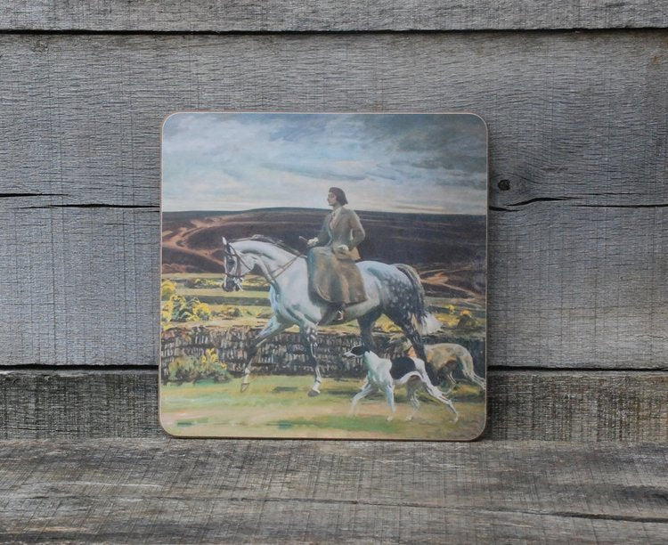 "Munnings ""Lady Munnings Riding a Grey Hunter, Side-Saddle on Exmoor"" Placemat"