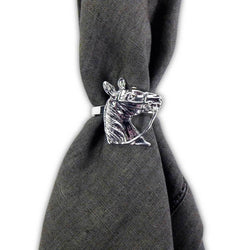 Pomegranate Silver Horse Napkin Ring - Set of 4